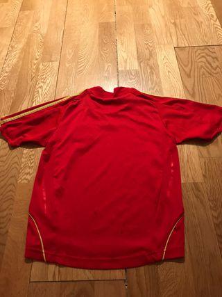 Camiseta selección España futbol. Talla 8 años
