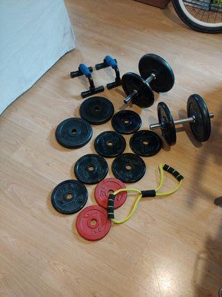 Conjunto pesas mancuernas