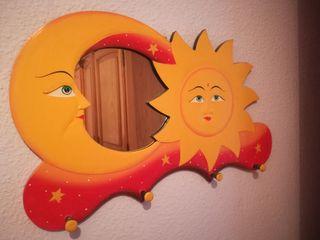 Espejo / perchero de pared
