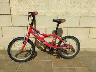Bicicleta infantil Orbea, 16 pulgadas.