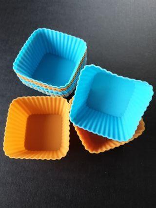 12 moldes magdalenas de silicona