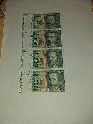 Billetes de mil pesetas Francisco Pizarro