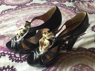 Zapatos piel fiesta tacon alto