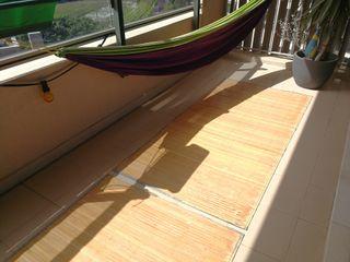 4x esteras de bambú al aire libre
