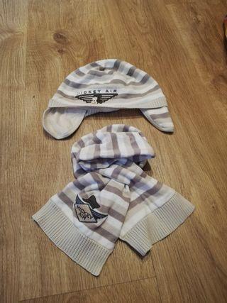 gorros y bufandas niño invierno