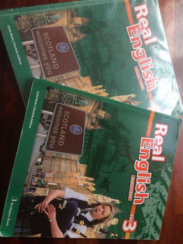 2 libros de texto de ingles 3eso