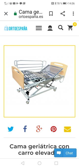 cama hospitalaria articulada con carro elevador