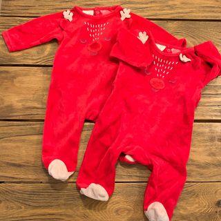 *Solo queda uno* Pijama bebé Navidad 1-3 meses