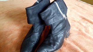 botas cowboy piel 100% negras