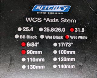 Potencia Ritchey WCS 90mm
