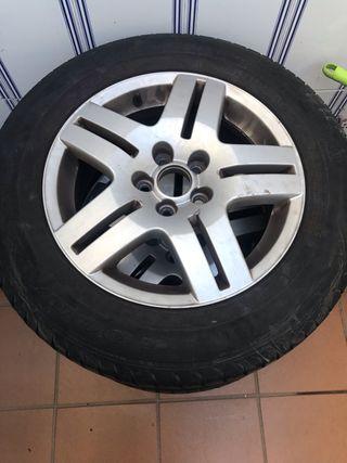"""4 llantas con gomas 15"""" Volkswagen golf 4"""