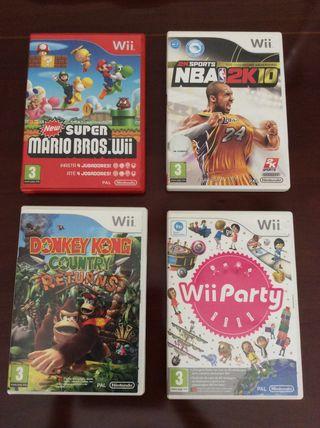 4 juegos Wii
