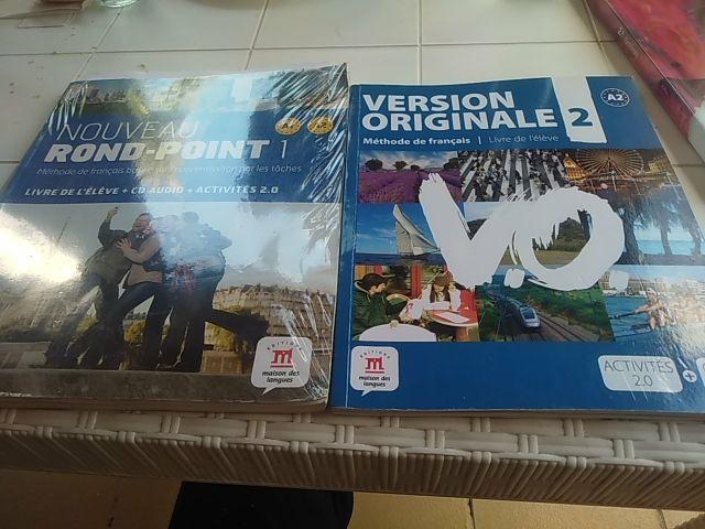 libros A1 A2 y A2 de francés.