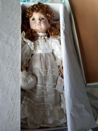 Muñeca de porcelana de colección/regalo comunión