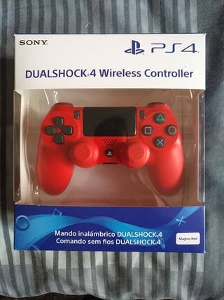 Mando PS4 Rojo Perfecto Estado