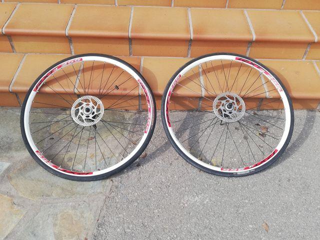 ruedas 29' con cubiertas de carretera
