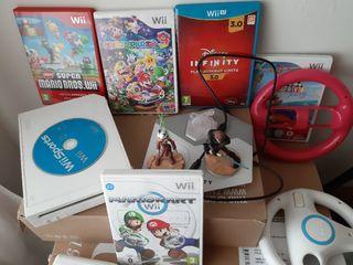 Wii de Nintendo con 6 juegos