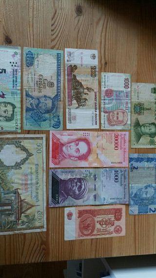 Colección de billetes del mundo