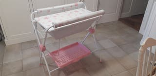 Bañera flexible bebé y cambiador