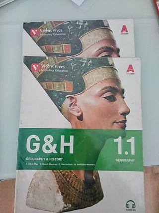 libros de geografía e historia en inglés 1º ESO