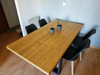 Mesa extensible estilo industrial