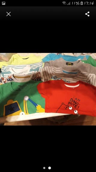 baby boys set of t shirts age 12-18months