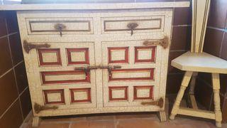 Mueble taquillon y silla vintage