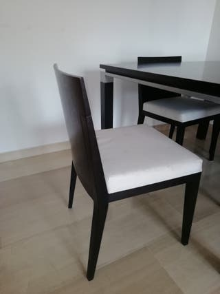 juego de 4 sillas madera