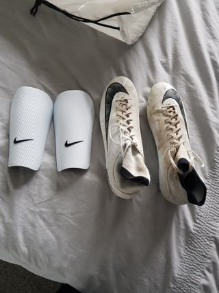 white Nike mercurial football boots
