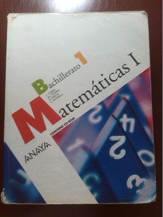 Libro Matemáticas 1° Bachillerato Editorial Anaya