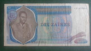 CONGO RD Billete de 10 Zaires 1971