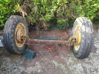 eje ruedas de goma,para carro del pais