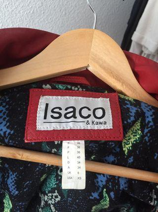 Chaqueta de cuero roja Isaco