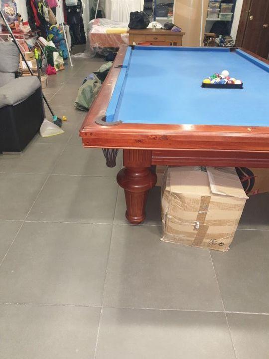 mesa de billar y carambola