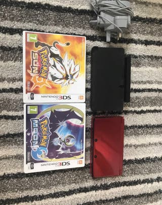 Nintendo 3ds with pokemon sun and moon