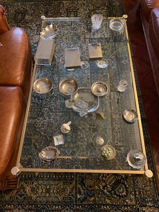 Mesa centro de cristal.