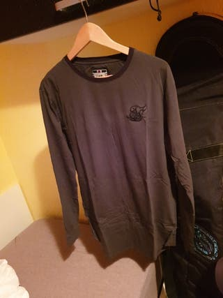 Camiseta Siksilk Verde Oscuro Manga Larga