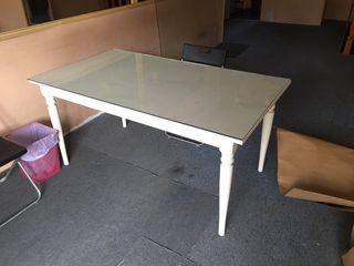 Mesa de comedor estudio despacho lacada en blanco