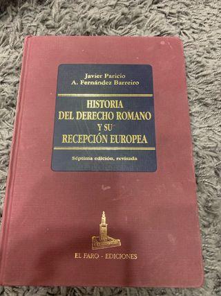 Historia del derecho Romano y su recepcion Europa