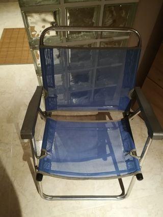 4 sillas aluminio plegables