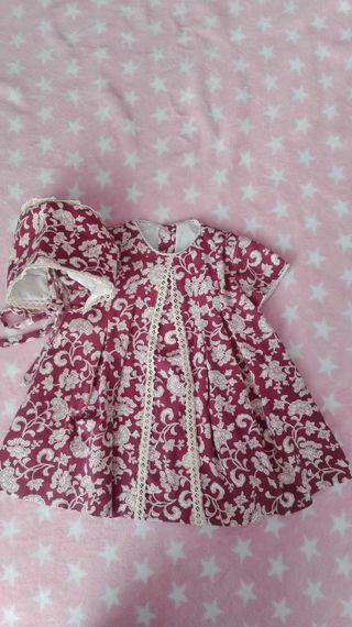 Vestido de niña 18 meses con capota para Invierno