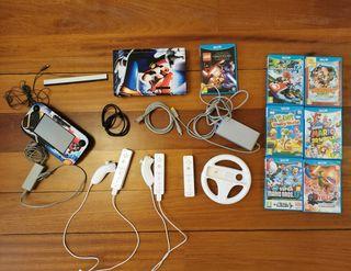 Wii U + mandos + varios juegos