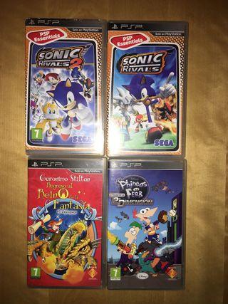 Pack de videojuegos de PSP