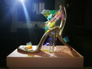 Zapatos tacón transparente