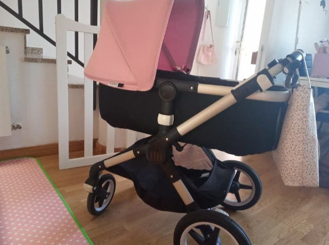 Capota extensible bebé rosa bugaboo