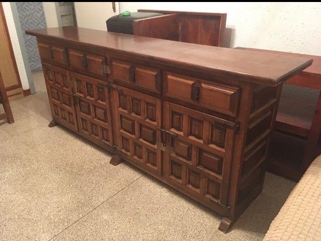 Conjunto muebles de comedor rústico de segunda mano por 180 ...