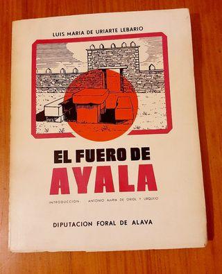 """libro antiguo """"El fuero de Ayala"""""""