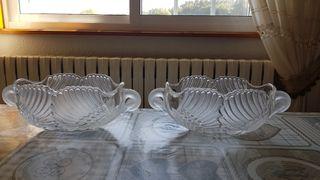 Centro de mesa/frutero de cristal