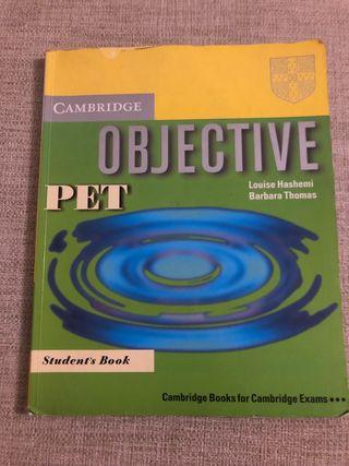 Libro de inglés Objetive Pet