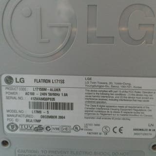 "Monitor 17"" LG Flatron"